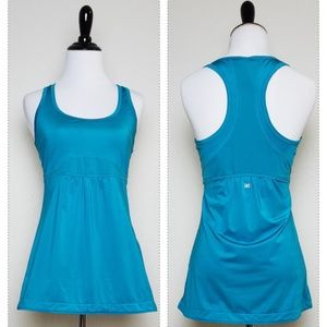 Lucy Teal Blue Racerback Exercise Athletic Tank